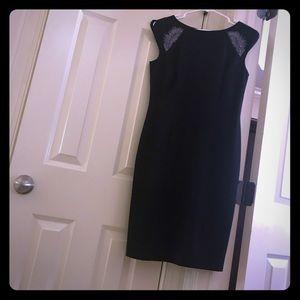 Black Nine West dress with Purple detailing